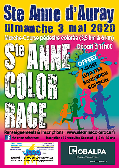 Affiche Color Run 2020